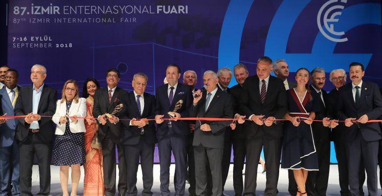 Binali Yıldırım 87. İzmir Enternasyonal Fuarı Açılış Törenine katıldı